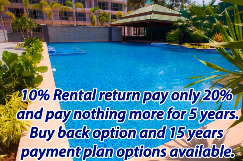 Pay only 20% and pay nothing more for 5 years and get a 10% return!