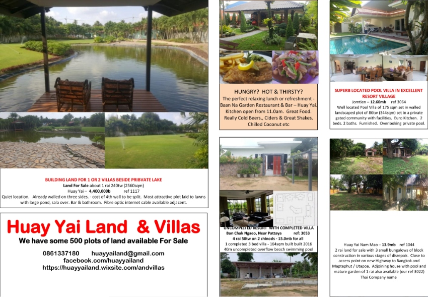 The latest list of villas for sale up to 13,900,000THB