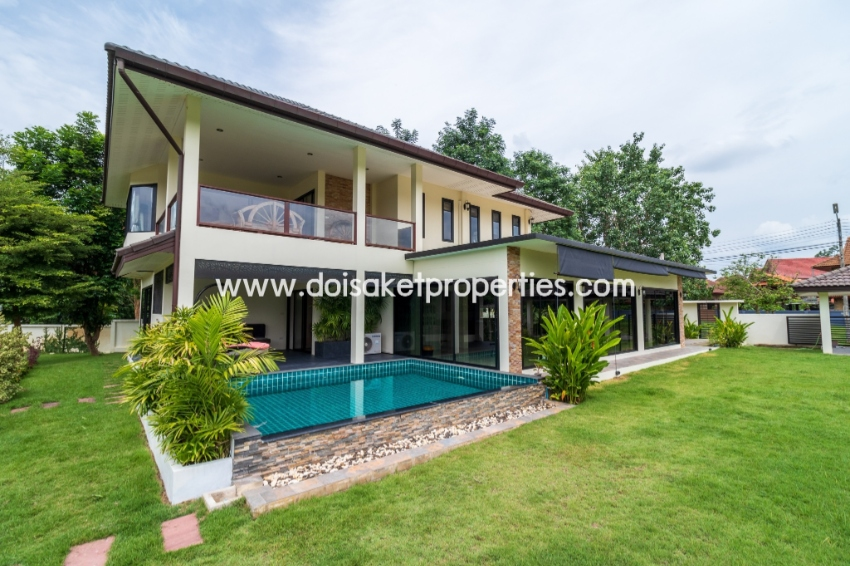 (HS057-03) Nice Built 2 Storey Home with swimming Pool in Doi Saket.