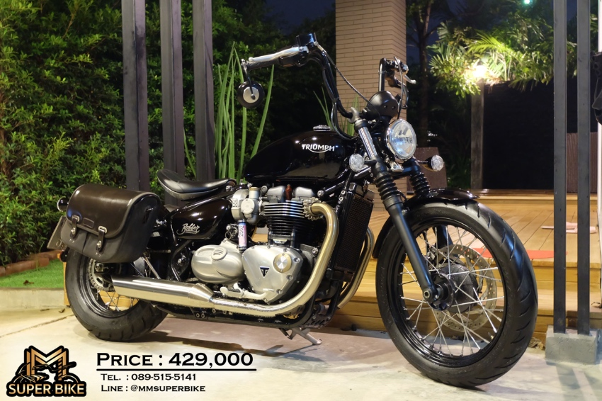 Triumph Bobber 2017 with only 5,0xx km + Triumph leather bags!