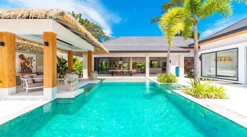 For Sale Balinese Style Villa Maenam Koh Samui 3 bedrooms jacuzzi pool