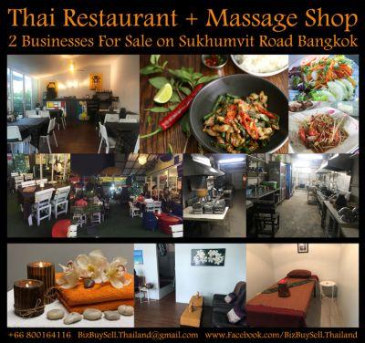 Thai Restaurant + Massage Shop Business For Sale
