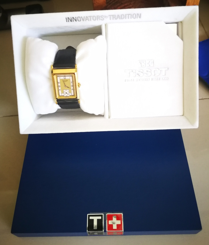 Tissot original 18k gold plated watch with box
