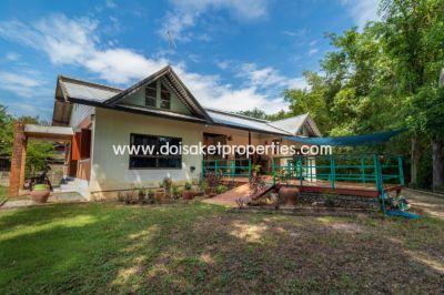 (HS252-02) Single Storey House on a Large Lot for Sale in Doi Saket