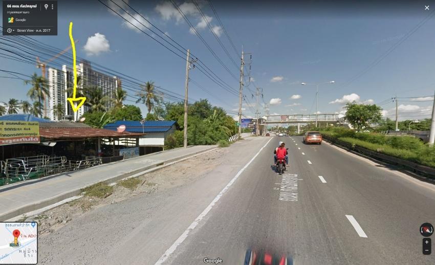 Land for sale, over 1 rai 533 sq wah total beside main road Kalapaprue