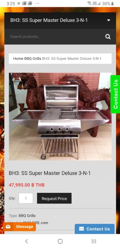 Stainless Super Master Deluxe 3 in 1 BBQ