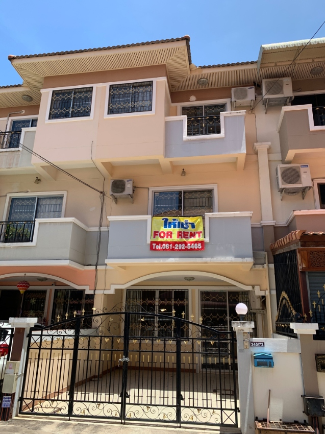 Location inside Pattaya City - 3 Floors -Parking Home / Townhouse