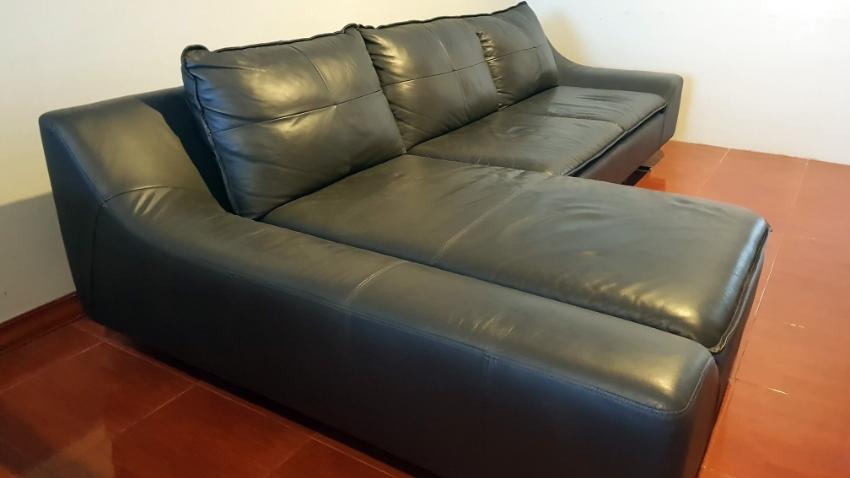 Real Leather Sofa Italian Design