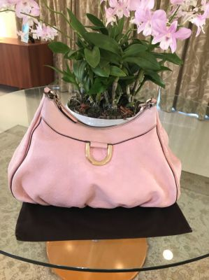 GG Gucci Bag monogram large all pink leather