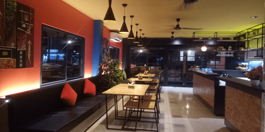 50 Seats Restaurant/Bar on Main Road with 4 Rooms