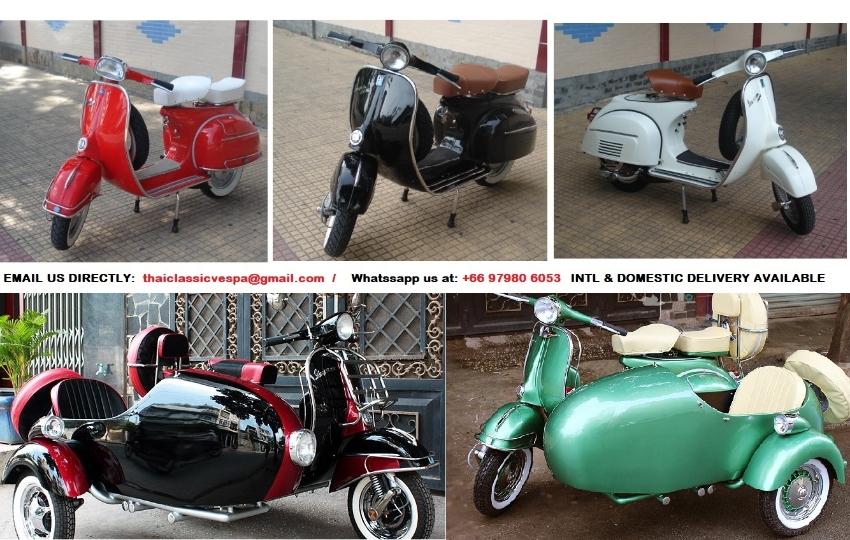 Classic restored scooters Vespa and Lambretta li with greenbook sale