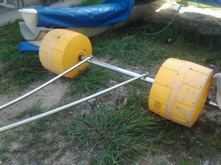 Hand trolley for catamaran sail boat for sale.