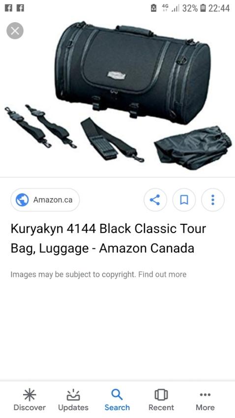 Küryakyn large roll touring bag