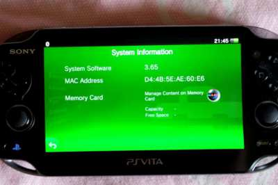 Sony PSVita, Software 3.65