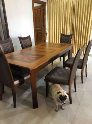 Solid Teak Wooden Dining Table