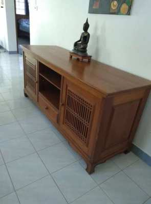 Solid teak dining set by Island furniture of Phuket
