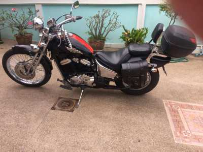 Honda Steed 400cc Classic Bike, Original Springer forks, Green Book.