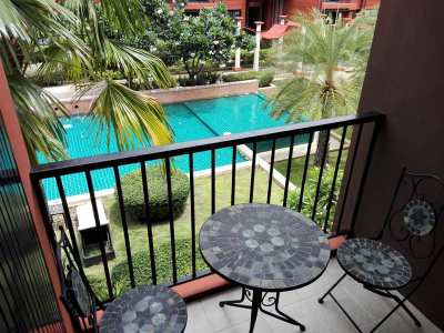 Centrally Located Fully Furnished Studio Condo 300 Meters to Beach