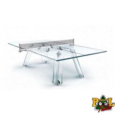 Zoom Lungolinea Glass Ping Pong Table by Thailand Pool Tables Lungolin