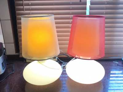 Two big table lamps for sale