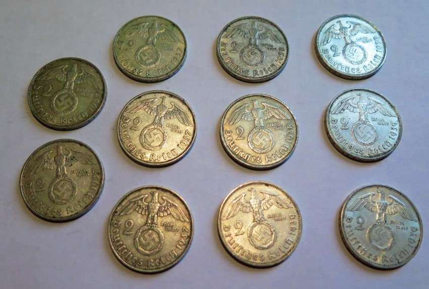 2 Reichsmark coins very old for collectors !