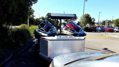 Two Jet Skis 300hp and custom trailer for sale or exchange