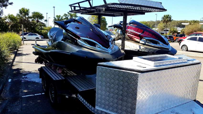 Fabulous 2 x Jet Skis 300hp and Custom Trailer for Sale or Exchange