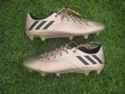 Brand new Adidas Messi 16:1 football boots in gold