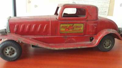 Toy - 1930 Louis Marx & Co. Siren Fire Chief Car - Pressed Steel 15
