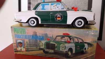 Vintage mercedes german police yonezawa japan mint