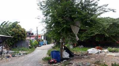 Sell vacant land, good location, 5 rai in Soi Khu Khong, Sompra, Samut Chedi, large plots