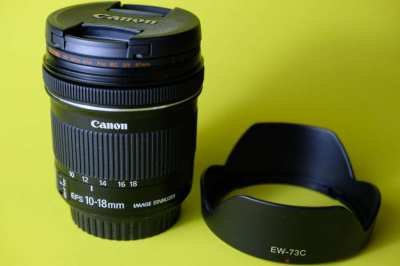 LIKE NEW - Canon EFS 10-18mm f4.5 Wide Angle Lens