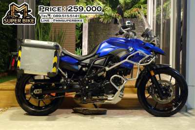 BMW F700GS 2016 with BMW side panniers and loads of other accessories