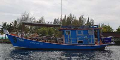 13m wooden boat .