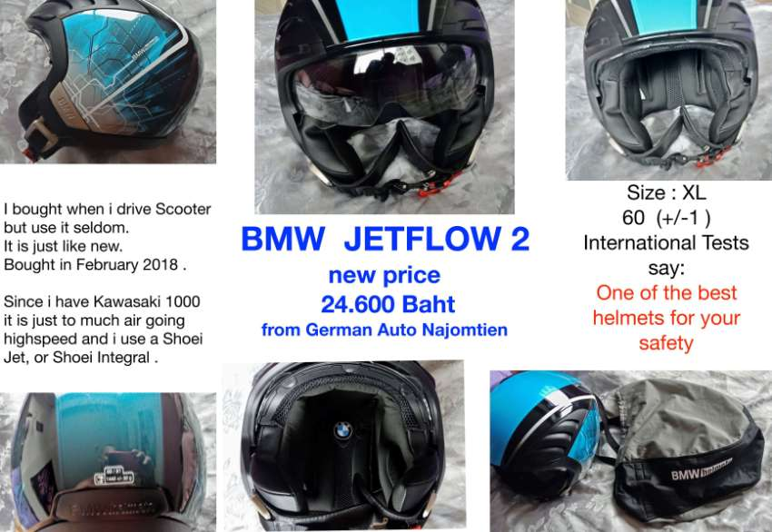 BMW Jetflow 2  Helmet, like new, Size XL