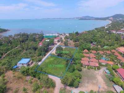 Two seaside land plots 2.7 Rai in Bophut