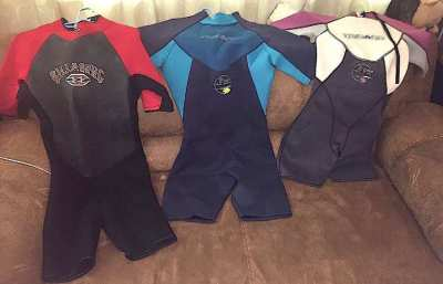 3 wet suits like new