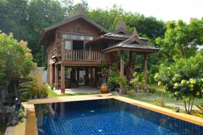 Amazing teak villa with private pool! Now only 3,900,000 THB