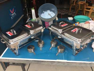 Rocket heated serving trays