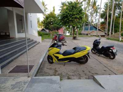 honda Forza 300 yellow with helmet for sale