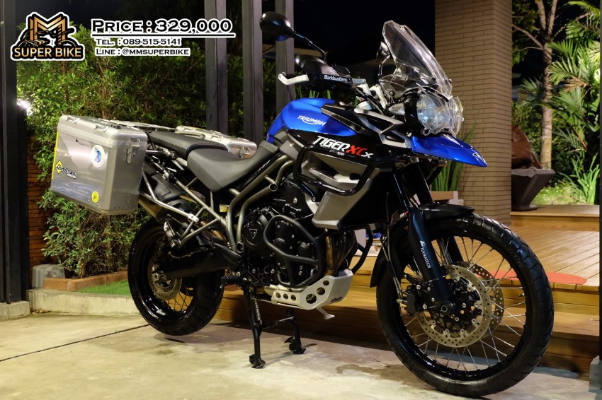 Triumph Tiger XCX 2015 only 12,3xx km with Touratech side panniers!