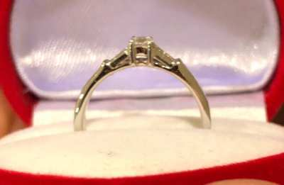 Beautiful 18K White Gold Engagement Ring