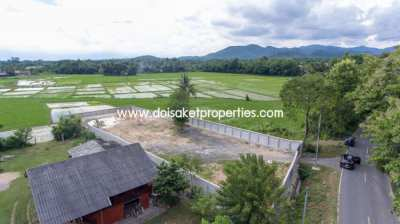(LS315-01) Beautiful Plot of Land for Sale with Mountain and Rice-Padd