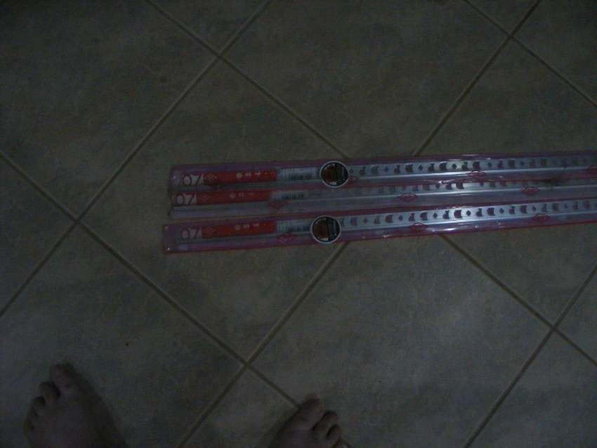 3 peices of 2metre 0.7 tile trim bought from home pro for 206 baht