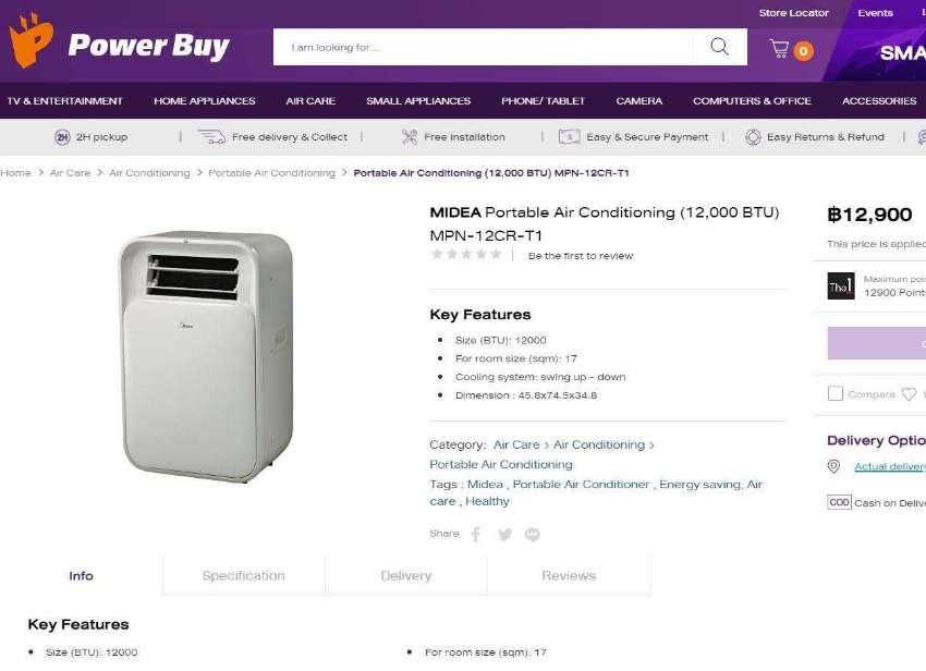 Air Conditioner Portable Midea