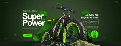 1000W Electric Fat Bike, 45kms per hour , 65kms range 3 hour charge.