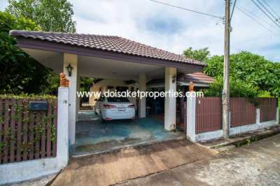Single Storey House in a Moo Ban for Sale  in Doi Saket