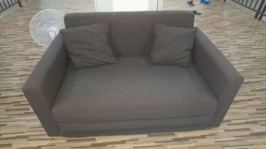 Reduced Dark Brown Sofa Bed Not