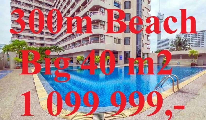 BESTDEAL! Big 40m2 Studio Pratamnak only 300m from Beach Khiang Talay