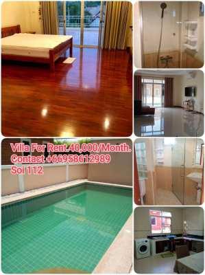 Pool villa for rent Huahin112